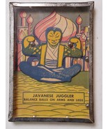 "Vintage ""Javanese Juggler"" Dexterity Skill Puzzle Game circa 1940s Tin G... - $14.95"