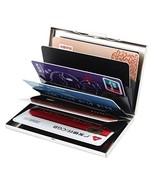 Metal Thin Credit Card Wallet Aluminum Card Protector 6 PVC Slots RFID B... - $97.03