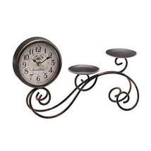 Scrollwork Table Clock & Candleholder - $24.85