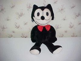 "22"" Felix The Cat Plush Stuffed Toy With Bow Tie By Applause 1988 - $98.99"