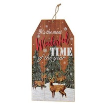 """Christmas House It's the most Wonderful Time Gift Tag Wall Sign 7""""X14"""" w - $5.99"""