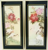 Vintage Brytone Mechanical Mirror Works Oriental Birds Flowers Set Of 2 ... - $87.07