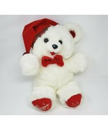 "18"" VINTAGE 1990 DAN DEE CHRISTMAS SNOWFLAKE TEDDY BEAR STUFFED ANIMAL P... - $52.40"
