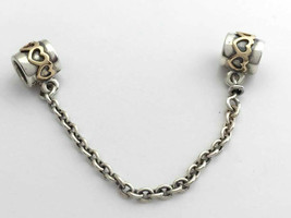 Authentic PANDORA Two Tone Heart Safety Chain, 790307-05, New - $96.01
