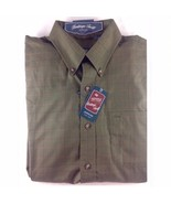 Arrow Heritage Twill Men's Olive Green Button Front Casual Long Sleeved ... - $21.00