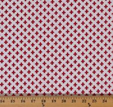 Cotton Petite Fleur de Lis Red Cotton Fabric Print by Yard D588.29 - $10.95