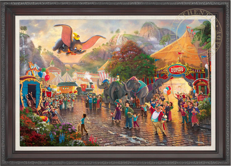 Thomas Kinkade Disney Dumbo 24 x 36 LE E/E Canvas Framed