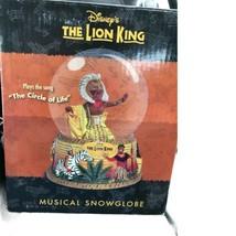 Disney The Lion King Broadway Musical Snow Globe Circle of Life Mufasa - $54.44