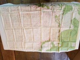 """Rare Vintage 36""""x26"""" Two Sided Western Pacific Cloth Nautical Map Asia China image 11"""