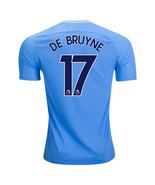 new DE BRUYNE #17 Manchester city 2017 2018 17 18 home Men Jersey - $26.98