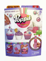 Poppit Mini Cupcakes Air Dry Clay Creations Refill Pack Play Set Makes 6... - $9.49