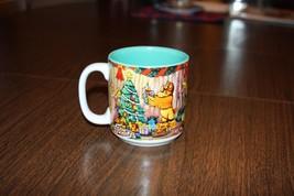 Christmas Winnie the Pooh 1997 Coffee Cup Mug Seasons of Song The Disney... - $9.74