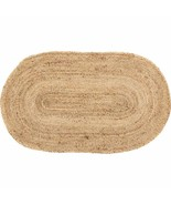 Vhc Brands 20390 Coastal Farmhouse Flooring-Natural Jute Tan Oval Rug, 2... - £14.49 GBP+