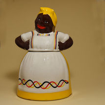 Mammy Yellow Cookie Jar by McCoy in the Brayton Laguna Style -  Price Re... - $51.00