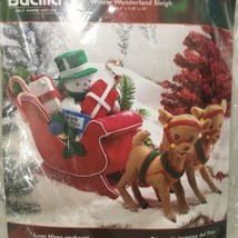 Bucilla Winter Wonderland Sleigh Snowman Reindeer Felt Centerpiece Kit Sealed - $124.97