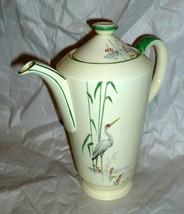 "RARE 1930s VINTAGE ART DECO Coffee Pot Fortuna Shape New Hall  8 1/4""  - $74.24"