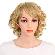 "VIMIKID Charming 16"" Short Blonde Curly Women Party Cosplay Wig Hair - $27.27"