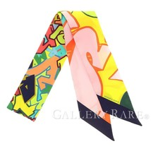 HERMES Twilly Graff Hermes Yellow Silk 2018SS Silk Twill Scarf Authentic... - $174.15