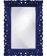 HOWARD ELLIOTT BARCELONA Wall Mirror Rectangle Glossy Navy - $899.00