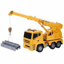 Goplus 1/18 5CH Remote Control RC Crane Heavy Construction Lifting Truck... - $36.99