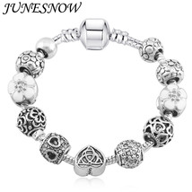 JUNESNOW 2017 New Arrival Pink Cherry Flower Heart Charms Bracelets For ... - $13.14