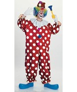 Rubies Dotted Clown Polka Dot Jumpsuit Adult One Size Halloween Costume ... - £15.34 GBP