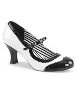 "PLEASER PINK LABEL Jenna-06 Series 3"" Heel Pumps - White-Black Patent - $51.95"