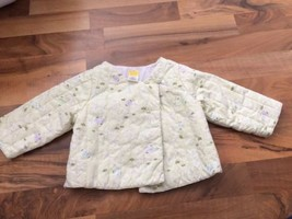 Gymboree baby girl Coat quilted Purple Asian floral Jacket 12-18 month - $15.79