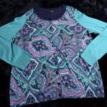 TALBOTS Womens LS CARDIGAN SWEATER SHIRT Sz Xp X petites NEW Full Button... - $55.78