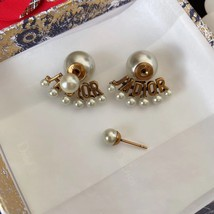 Authentic Christian Dior 2020 J'ADIOR AGED GOLD CRYSTAL EARRINGS Star Bee Wasp image 3