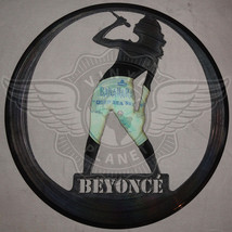 VINYL PLANET ART BEYONCE Home Record Unique Decor upcycled 12'' - $28.22
