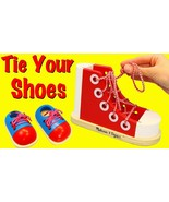 Melissa and Doug Kids Deluxe Wooden Lacing Shoe Educational Toy - $15.30