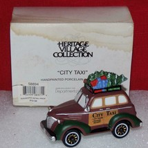 Christmas Heritage Village Collection City Taxi 58894 Dept. 56 MIB - $16.66