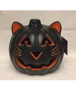 Lighted Cat Halloween Jack-O-Lantern with LED light Holiday Home decor p... - $10.00
