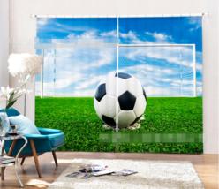 3D Football 631 Blockout Photo Curtain Printing Curtains Drapes Fabric Window UK - $145.49+