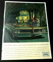 1962 Pontiac Bonneville Print Ad Palm Trees General Motors - $11.99