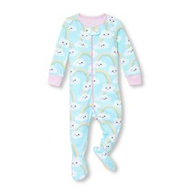 NWT The Childrens Place Rainbow Girls Stretchie Footed Sleeper Pajamas 2 3 4 5 - $8.99
