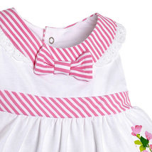 Mayoral Baby Girl 3M-24M Pink/White/Green Stripes-n-Floral Top/Legging Set image 3