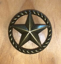 Set of 6 Star with Rope Drawer Pull, Antique Brass in Color, Cabinet Knobs - $24.74
