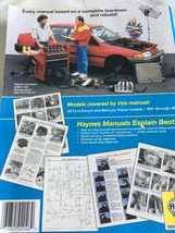 Haynes Repair Manual 36020 2046 Fits: 1991 - 1996 Ford Escort & Mercury ... - $14.10