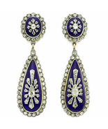 Antique Style Victorian 3.00cts Rose Cut Diamond Silver Earrings ZS311 - $275.08