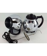 Vintage SUNBEAM C30A Chrome Vacuum Percolater CoffeeMaster Coffee Maker #2 - $89.09