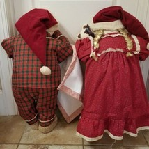 "2 Time Out 26"" Dolls Boy Girl Twins Christmas Pajamas Rabbit Teddy Bear ... - $59.99"
