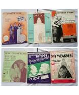 Klassischer Notenblatt Musicals Produktions Songs Lot Of 6 1930s - $32.10
