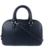 NEW GUCCI 510286 Microguccissima Leather Satchel Crossbody Bag, Blue - $1,220.00