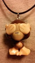 Emoji Bobo Cheeky Monkey Figure Necklace - $10.00
