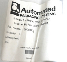 NEW AUTOMATED PACKAGING SYSTEMS 58069A7 ROLLER ASSEMBLY image 2
