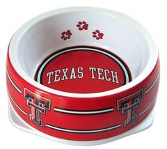 Dog Food Bowl, Ncaa-licensed Texas Tech Cute Decorative Outdoor Dog Food... - $28.99