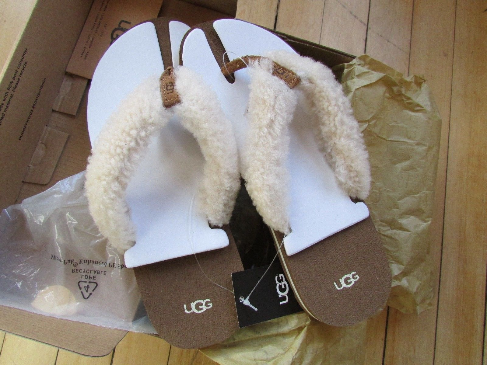 992ca4d5ac9 Ugg Schutter Flip Flop Shearling Thong Shoes and 50 similar items