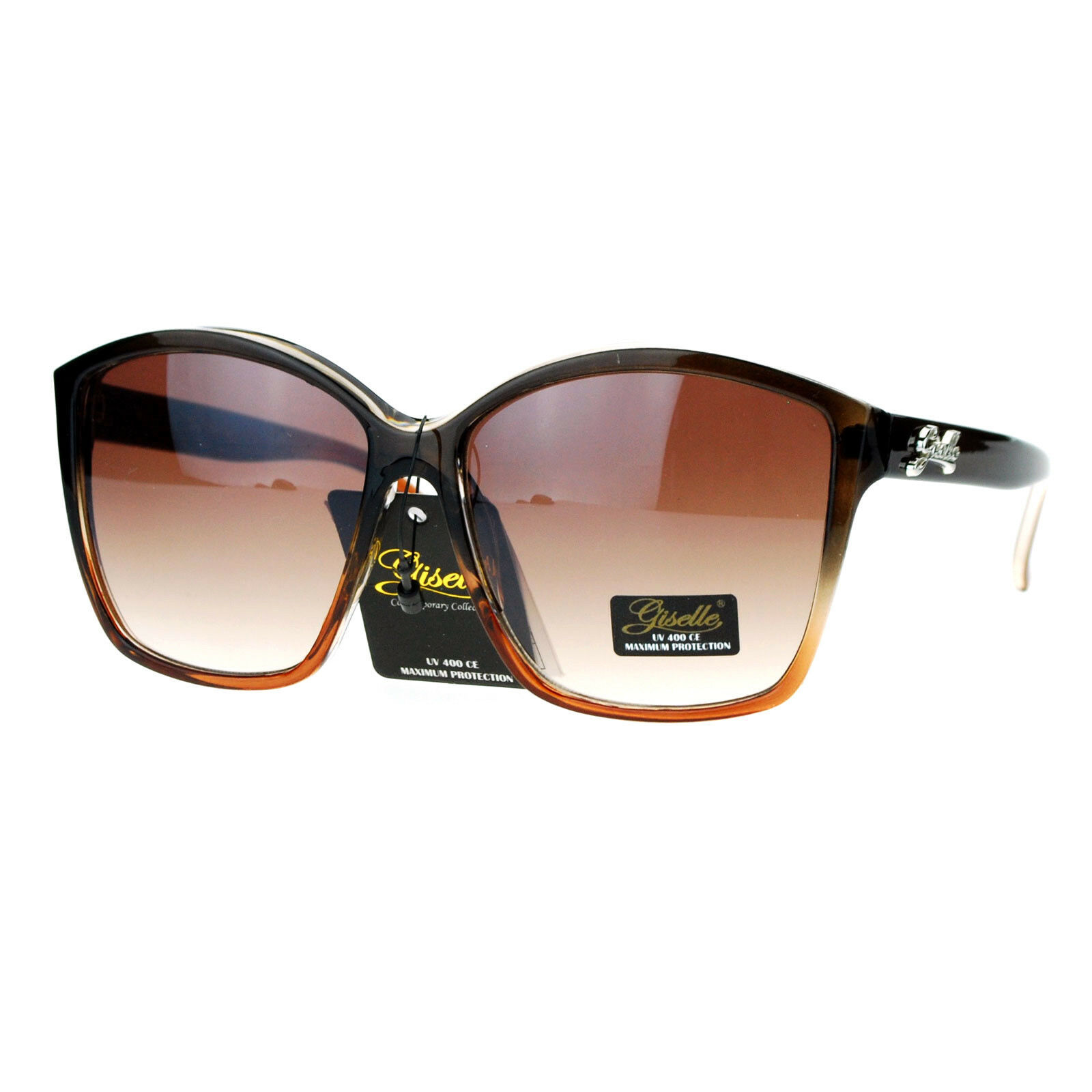 Womens Sunglasses Oversized Unique Round Top Square Frame UV 400